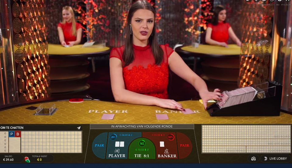 Baccarat spelen in landbased of online casino