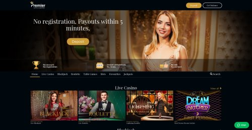 casinooplichters.nl casino review Premier live casino screenshot