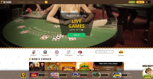 casinooplichters.nl review Bob Casino screenshot
