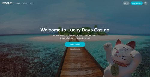 casinooplichters.nl review Lucky days screenshot