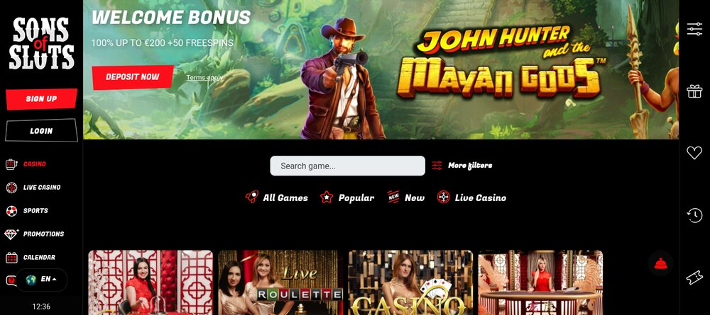 sons of slots online casino review